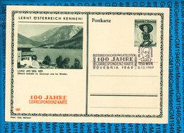 Austria Postkarte 100 Jahre Correspondenz Karte OVEBRIA 1969 - Entiers Postaux