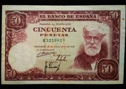 Billete De 50 Pesetas. Santiago Rusiñol - [ 3] 1936-1975 : Régence De Franco