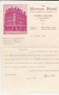 ROYAUME-UNI----LONDRES--THE MORTON HOTEL---Russell Square London W.C.I.--voir 2 Scans - Royaume-Uni