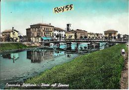 Veneto-venezia-concordia Sagittaria Veduta Ponte Sul Lemene Anni 50/60 - Italia
