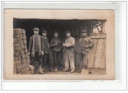 BASTIA (Environs) - CARTE PHOTO -  Travailleurs Au Chantier - Photographe: J.Moretti - Très Bon état - Bastia