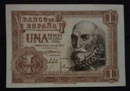 Billete De 1 Peseta. Marqués De La Cruz - [ 3] 1936-1975 : Regency Of Franco
