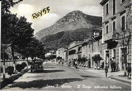 Marche-ancona-serra S.quirico Il Borgo Veduta Via Auto Epoca Benzinaio Shell Negozi Persone Animatissima - Altre Città