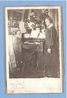 8353 Near The Musical Instrument Mannborg Harmonium Two On One Cardboard Original Photo Size: 91x119 Mm - Música Y Músicos