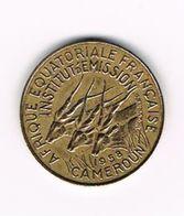 -&   EQUATORIAL  AFRICAN STATES   CAMEROUN  5 FRANCS  1958 - Cameroun