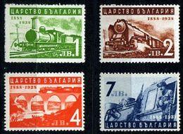 Bulgarien Mi. 354 / 355  50 Jahre Eisenbahn In Bulgarien **/MNH - Trains