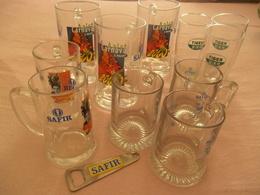 LOT        11stuks Glazen   AALST  Plus  1 Flessen Opener SAFIR  AALST - Glasses