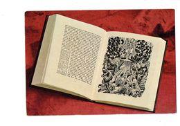 Cpm - édition Française De L'Eloge à La Folie - Livre Ouvert Dessin Disque Vinyle Guitare Pin'up Voiture - Peintures & Tableaux