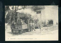 CP Repro: - 90 - BELFORT - CHEMIN DE FER MILITAIRE STRATÉGIQUE - Belfort - Ville