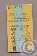 Fahrkarte (Bundesbahn) - München - Salzburg 1975 - Europa
