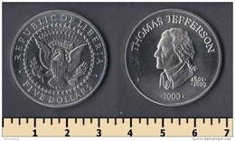 Liberia 5 Dollars 2000 - Liberia