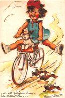 "¤¤   -   ILLUSTRATEUR  "" Germaine BOURET ""  - Carte Moderne  -  Chien , Canards , Vélo    -   ¤¤ - Bouret, Germaine"