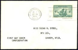 Canada Sc# 282 (no Cachet) FDC (b) 1949 4.1 Newfoundland - ....-1951
