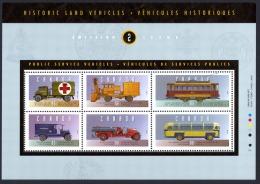 Canada Sc# 1527 Used Souvenir Sheet 1994 43c-88c Historic Public Service Vehicles - 1952-.... Reign Of Elizabeth II