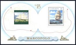 Canada Sc# 1779a MNH Souvenir Sheet 1999 $1.25 Sailing Ship Marco Polo - 1952-.... Reign Of Elizabeth II