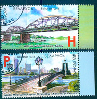 Belarus 2018 Europa Bridges Bridge Set 2v Used - Belarus