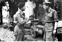 Militaria WW2  - Le Général Piron, Commandant La Brigade Belge - Salanelles 18 Août 1944 - 1939-45