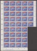 DDR, 1953, 70. Todestag V. Karl Marx, MiNr. 344-353, **, Schalterbögen (50), 347 X II, DV, DZ, RL,Bogen-,Randst.,(5% Mi) - DDR