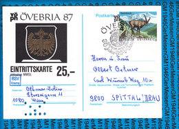 Austria Post Karte OVEBRIA 1987 - Österreich