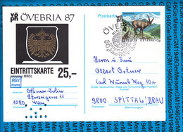 Austria Post Karte OVEBRIA 1987 - Non Classés