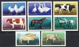 Poland Sc# 2097-2104 MNH 1975 Farm Animals - 1944-.... Republic