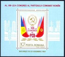 Romania Sc# 3229 MNH Souvenir Sheet 1984 Party Symbols - 1948-.... Républiques