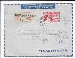 MARTINIQUE - 1949 - ENVELOPPE Par AVION RECOMMANDEE De FORT DE FRANCE => MARSEILLE - Airmail