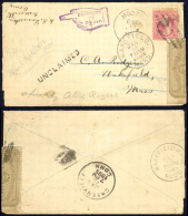USA Sc# OX7, 248 On Cover Moosup, CT>Wakefield, MA (UNCLAIMED) 1894 12.13 - 1847-99 General Issues