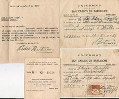 BARILOCHE - 1951 TOUR - Documento Reajuste De Precios - ENTRADA CABLE CARRIL CERRO CATEDRAL - Recibos Con Timbre Fiscal - Biglietti D'ingresso