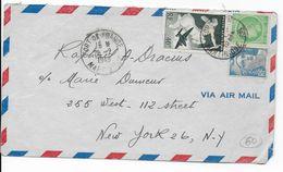 MARTINIQUE - 1949 - ENVELOPPE Par AVION De FORT DE FRANCE => NEW-YORK (USA) - Airmail