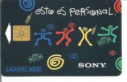 "Télécarte Du MEXIQUE - SONY ""Esto Es Personal""  (GEM 12/95 Tirage 700 000 Ex.) - Mexico"