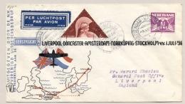 Nederland - 1936 - LP-cover Ter Herinnering First Flight Liverpool - Stockholm Vv - Van Rotterdam Naar Liverpool - Periode 1891-1948 (Wilhelmina)