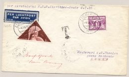 Nederland - 1936 - Taxed First Flight ZIERIKZEE Naar ZOUTE - VH-A 143a - Periode 1891-1948 (Wilhelmina)
