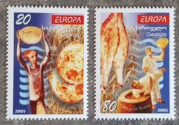 Géorgie - YT N°379, 380 - EUROPA / La Gastronomie - 2005 - Neufs - Géorgie
