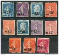 France (1926) N 217 à 228 * (charniere) - Neufs