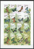 N550 !!! IMPERFORATE GUYANA FLORA & FAUNA BUTTERFLIES 1SH MNH - Schmetterlinge