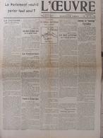 L'Oeuvre (28 Janv 1916) Censure - Attaque Autrichienne - Encourager L'Agriculture - Aff Vitraux De Reims - Kranten