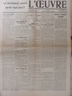 L'Oeuvre (28 Janv 1916) Censure - Attaque Autrichienne - Encourager L'Agriculture - Aff Vitraux De Reims - Giornali
