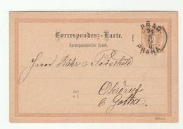 1890 PRAGUE Postal STATIONERY CARD Austria Cover Stamps Czechoslovakia - 1850-1918 Empire