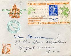FRANCE : PORTE TIMBRE. AVEC 20 F . TYPE MULLER . EXPOSITION DE PROVINS . 1958 . - 1921-1960: Modern Period