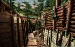 DANS LES TRANCHEES ALLEMANDES EIN MUSTER GRABEN - Oorlog 1914-18