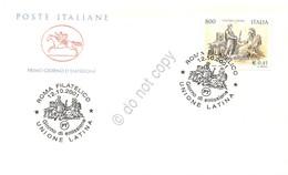FDC Cavallino Italia Repubblica 2001 - Unione Latina - Annullo Figurato - Francobolli