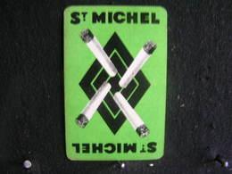 Playing Cards / Carte A Jouer / 1 Dos De Cartes, Inscription  Publicitaire / Cigarettes - Sigaretten - ST. MICHEL - Cigarette Holders