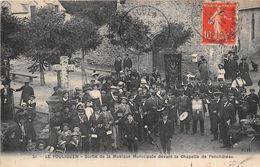 ¤¤   -  LE POULIGUEN   -  Sortie De La Musique Municipale Devant La Chapelle De Penchateau  -  Calvaire      -  ¤¤ - Le Pouliguen