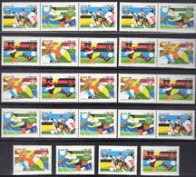 Fußball Championat Brasil 2264/7,8x ZD+4-Block ** 42€ Clubs 1988 Recife Fluminense Rio Soccer Se-tenants S/s BRAZIL - Brésil