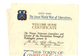 1939  -  1945    THE  GREAT  WORLD  WAR  OF  LIBERATION - Documents