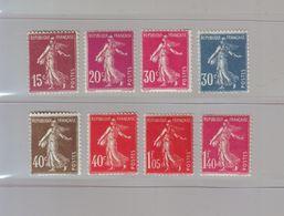 FRANCE - 1924-26 - YT N° 189/196 - Semeuse De Roty - NEUF** - Francia