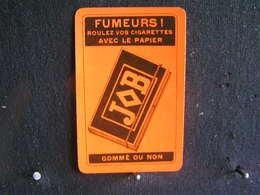 Playing Cards / Carte A Jouer / 1 Dos De Cartes, Inscription  Publicitaire /  Fumeurs ! Cigarettes Avec Le Papier JOB - Objets Publicitaires