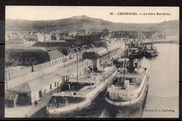 "CPA 50 - CHERBOURG - ( CH427 ) Gare Maritime -  Transbordeur ""Nomadic"""" - Cherbourg"