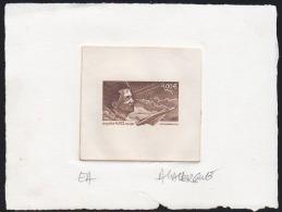 France (2003) Jacqueline Auriol. Jet. Stage Die Proof Signed By The Engraver LAVERGNE.  Scott No C65.  Small Tear At Bot - Prove D'artista